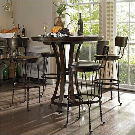 Pub Kitchen Table Pub Tables In The Kitchen Artisan Crafted Iron Furnishings And Decor