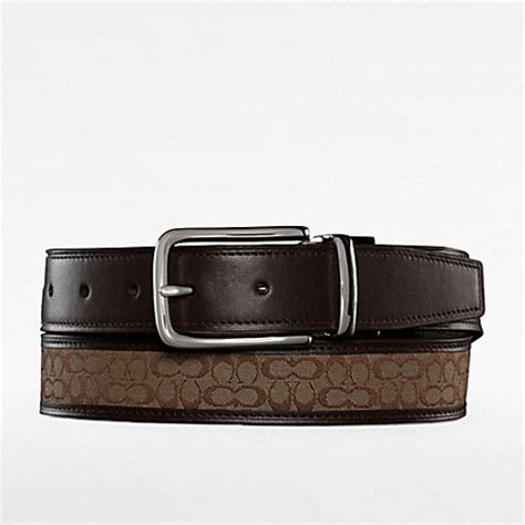 couch belts coach f90107 reversible signature belt 18882 coach men