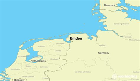 emden germany emden  saxony map worldatlascom