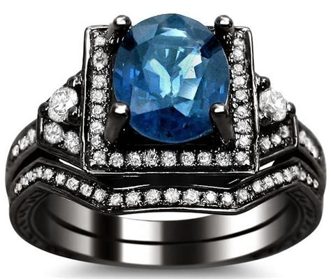 6 50ct Blue Sapphire 2 50ct blue oval sapphire engagement ring bridal