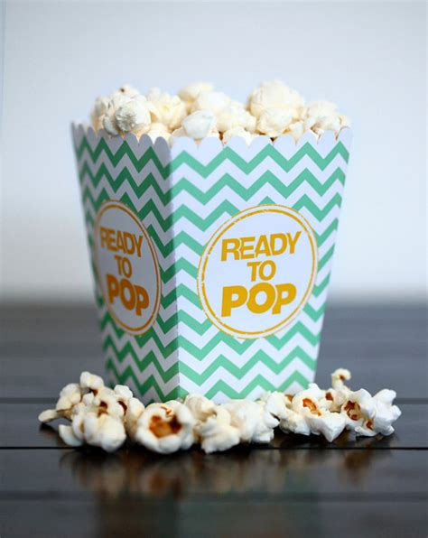 Baby Shower Popcorn Boxes by Choose Your Color Ready To Pop Baby Shower