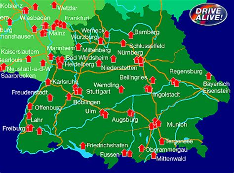 map of southern germany with cities and towns southern germany tourist information where to go in bavaria