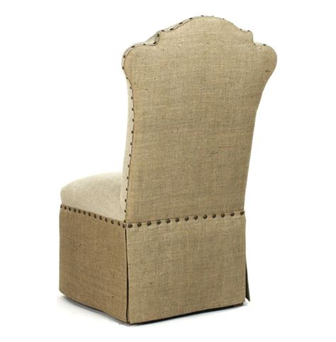 Skirted Dining Chairs Country Jute Linen Skirted Dining Chair Kathy Kuo Home