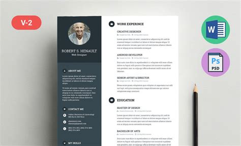 Resume Template Word Doc Docx And Psd Formats Resummme Com Template Resume Gratis
