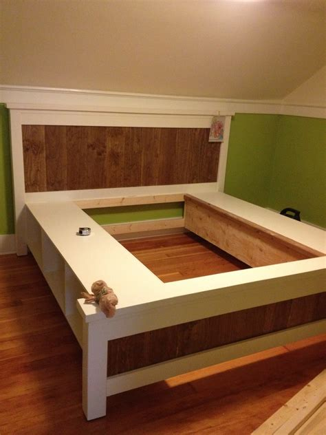 woodwork king size bed plans  drawers  plans