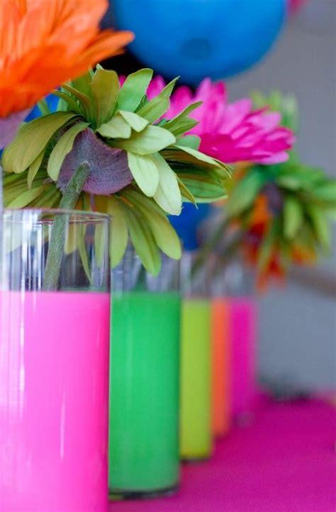 acrylic paint dollar tree centros de mesa de 15 fluo