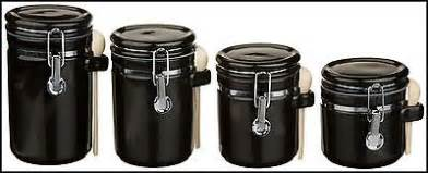 black ceramic canister sets kitchen set ceramic canister kitchen 4 storage 4 black sugar