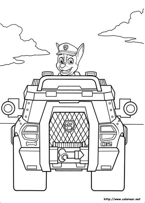 dibujos para pintar patrulla canina dibujos para colorear de la patrulla canina