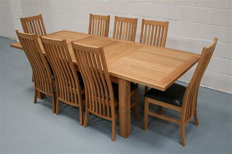 Lichfield Extending Dining Tables 8 Seater Oak Dining Oak Extending Dining Table And 8 Chairs