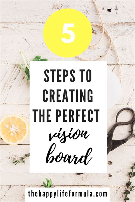 how to create a vision board one that how to create a vision board the happy formula