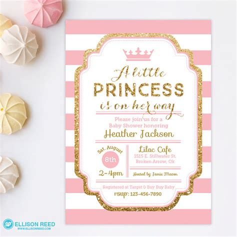 princess invites free templates baby shower invitation templates princess baby shower