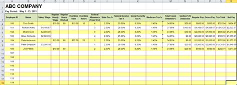 payroll spreadsheet template free excel payroll spreadsheet template