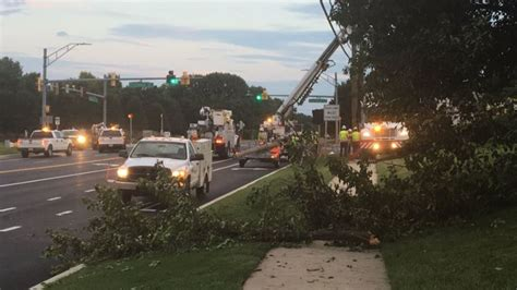lights in md microburst downs trees knocks out traffic lights in md