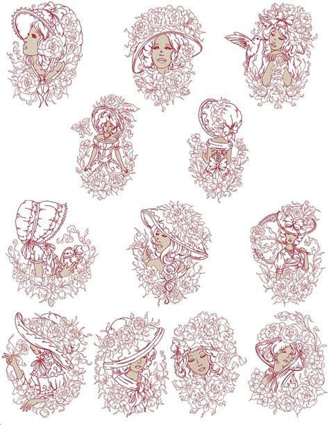 embroidery design ladies victorian garden ladies machine embroidery designs by