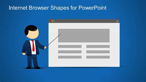 Web Browser Clipart Template For Powerpoint Slidemodel Website Presentation Template