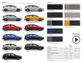 ford focus colors 2015 ford focus st information brochure bloomington ford