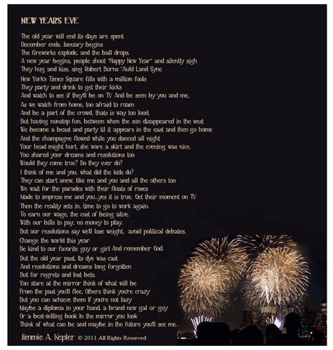 poem new year s eve lonely man