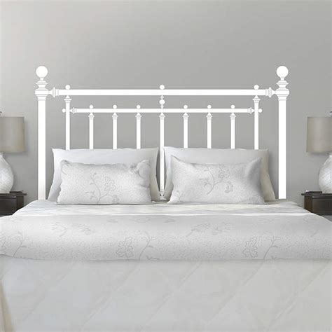 martha stewart headboard iron bed headboard wall decal shop fathead 174 for wall art