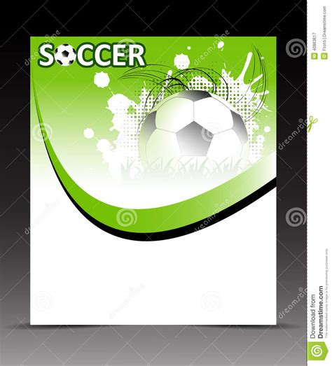 soccer player id card templates template flyer with soccer on abstract background