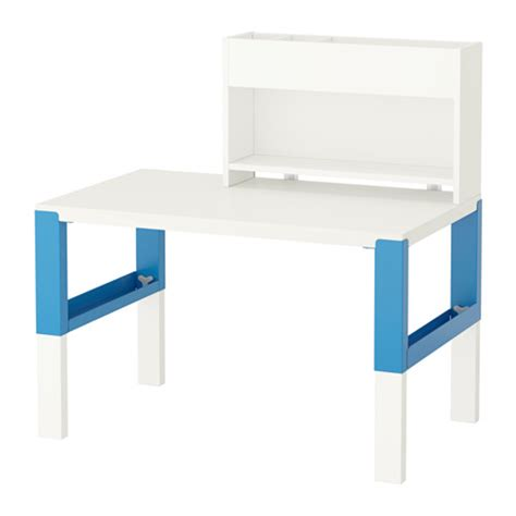 ikea pahl p 197 hl desk with add on unit white blue ikea