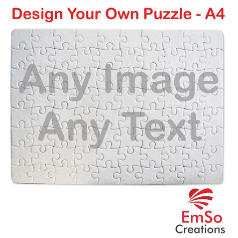 jigsaw puzzles make your own printable personalised a4 puzzle any photo image text create