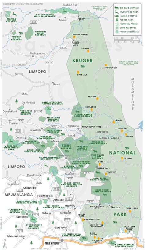 kruger national park map kruger park map south africa