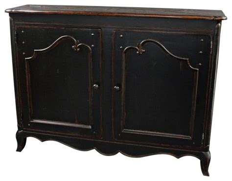 sideboard french country wood raised black farmhouse