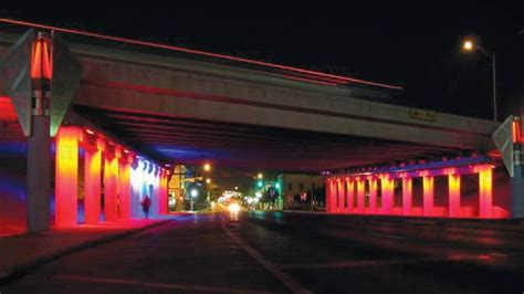 Lu Led Multi Ok Multi Colored Led Lights Planned For Sand Springs Highway