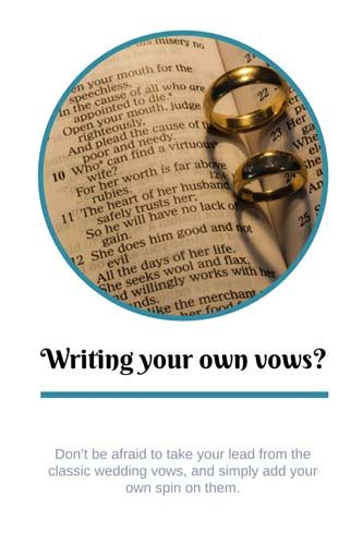 Wedding Ceremony With Own Vows by Tips For Writing Your Own Wedding Vows