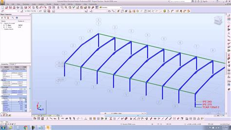 portal frame design youtube nonlinear static analysis in autodesk robot 2017 of a