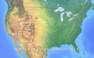 united states physical map with rivers united states physical map