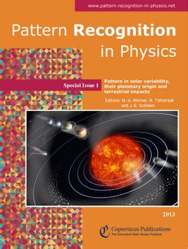 journal of pattern recognition research pattern recognition in physics wikipedia