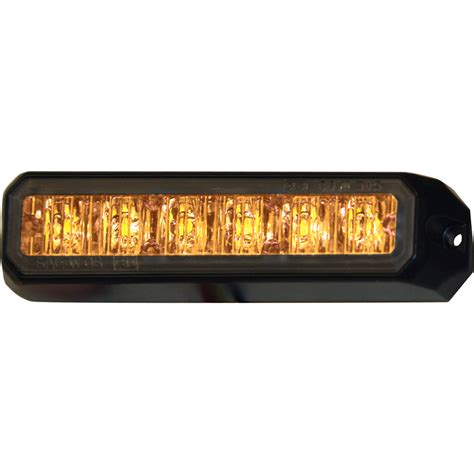 small strobe lights for sale buyers 8891500 5 quot 6 led amber aluminum mini strobe light