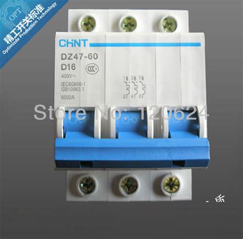chint mcb dz47 60 d16 3p 16a low voltage mini wholesale