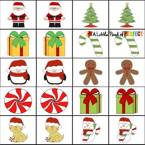 printable concentration games for kindergarten best 25 christmas games for preschoolers ideas on