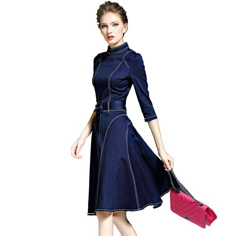 2016 New Autumn And Winter - dhtema 2016 denim dress autumn and winter s new