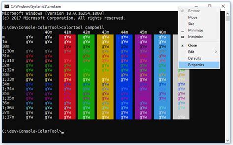 console colors introducing the windows console colortool windows