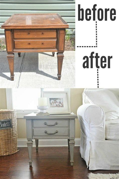 Living Room Table Makeover 25 Best Refinished End Tables Ideas On Refinish End Tables Redo End Tables And End