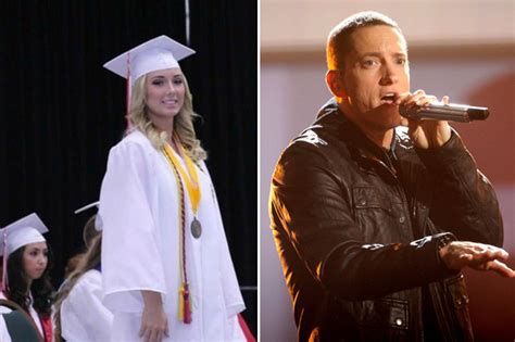 eminem and kim eminem and kim scott watch daughter hailie graduate high