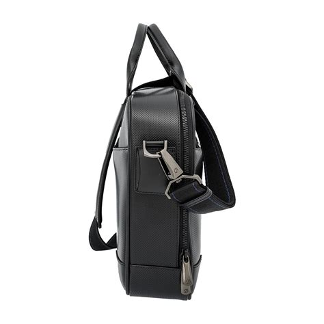 s t dupont mclaren defi perforated leather bag st