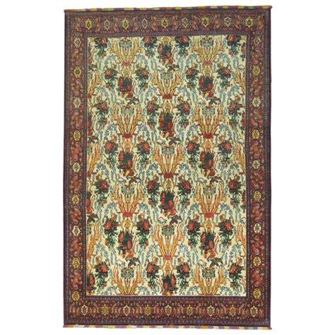 senneh rug antique senneh rug with silk highlights and fringes for sale at 1stdibs