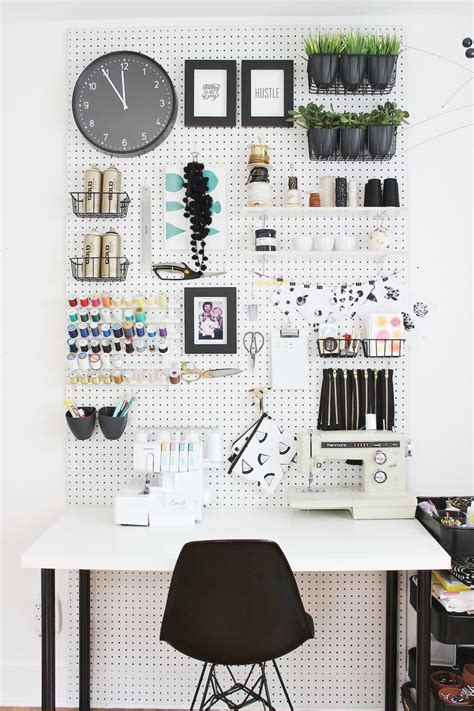70 resourceful ways to decorate with pegboards and other pegboard office home design