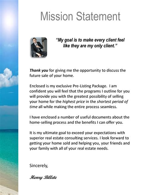 thank you letter after listing presentation real estate presentation template thank you letter format