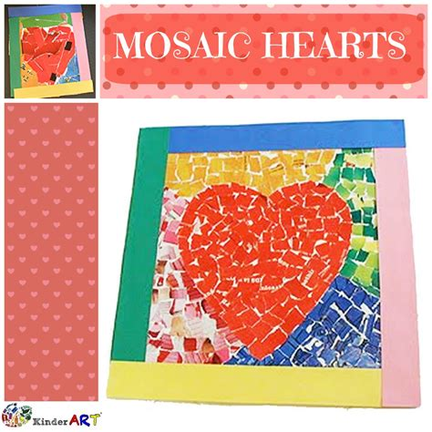 How To Make Paper Mosaic Artwork - mosaic hearts craft for s day monthly seasonal