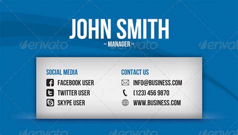 Business Card Template Social Media Free by 15 Best Social Business Cards Templates