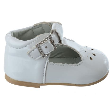 baby shoes for flat baby infants toddler t bar diamante buckle patent