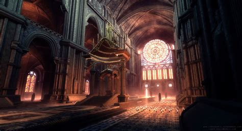 gothic interior by paisguy on deviantart udk the cathedral by therealfroman on deviantart