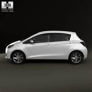 toyota yaris vitz hybrid 2013 3d model humster3d
