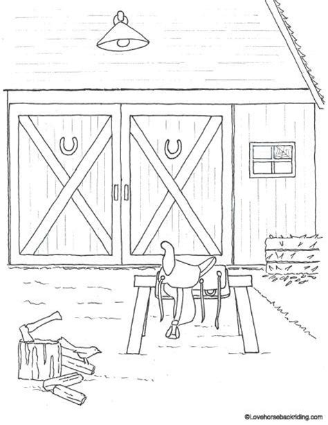 horse barn coloring page printable horse coloring pages for you to enjoy