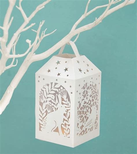 Paper Lantern Craft Template - learn how to create your own woodland lantern with this